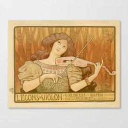 Violon lesson Canvas Print