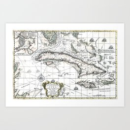 The island of Cuba - 1762 Art Print