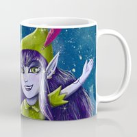 neverland Mugs featuring Lulu Neverland by Anais.Lalovi