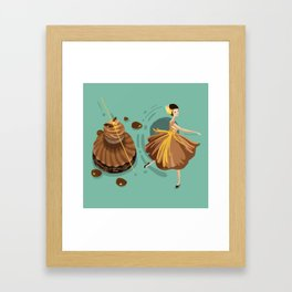 Caramel Salted Butter Choux  Framed Art Print