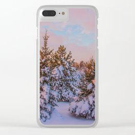 Winter Sunset 5 Clear iPhone Case