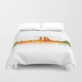 Bogota City Skyline Hq V3 Duvet Cover