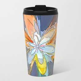 Gold Flower Abstract Travel Mug