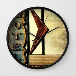 Vintage Arrow Motel Sign Wall Clock