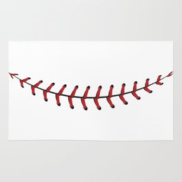 Baseball Lace Smile Rug