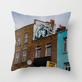 Looking Down Camden Street Throw Pillow