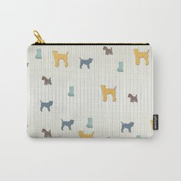 Going To The Dogs Plaid Terriers Carry-All Pouch