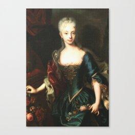 Maria Theresa before She Was Empress  Canvas Print