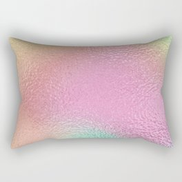 Simply Metallic in Iridescent Rainbow Rectangular Pillow