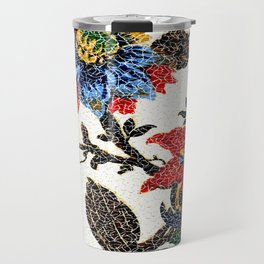 Antique Floral Vintage Pattern Design Travel Mug