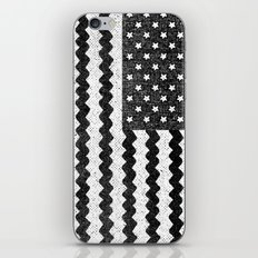 Black Zig Zag Flag iPhone Skin