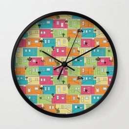 Bright Bo-Kaap Wall Clock