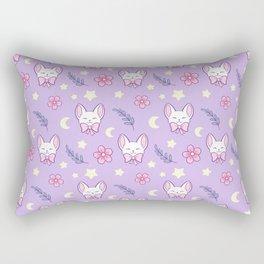 Sakura Cat // Purple Rectangular Pillow