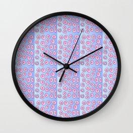 pink polka dot 2- polka dot,pattern,dot,polka,circle,disc,point,abstract,minimalism Wall Clock