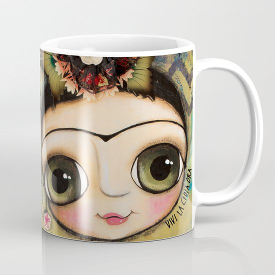 Frida Kahlo and the white coat Mug