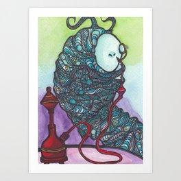 The Catapillar Art Print