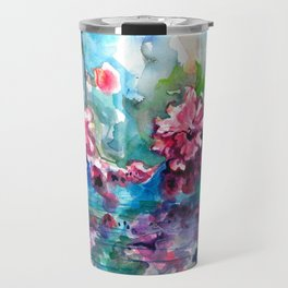 CHERRY TREE MIRRORING IN THE WATER - WATERCOLOR Travel Mug