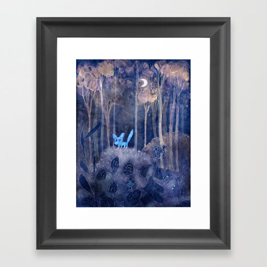 little fox Framed Art Print