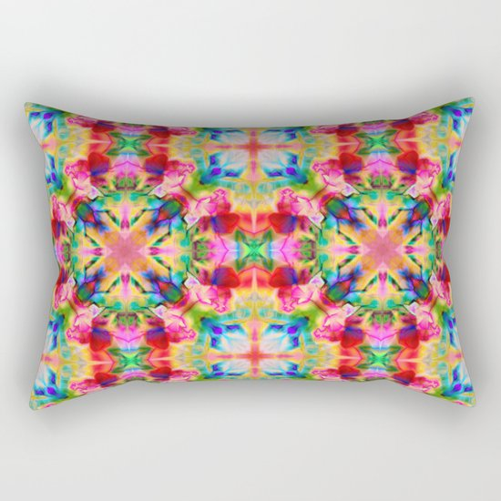 Colors of the kaleidoscope. Colorful ornament. Rectangular Pillow