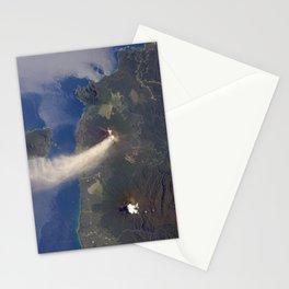 Volcano Eruption Stationery Cards