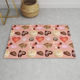 Peace Love Chocolate Candy Rug