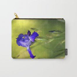 Violet Iris Flower Carry-All Pouch