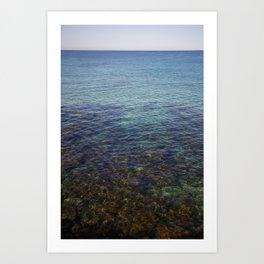 blue sea close up Art Print