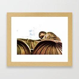 Bronze Buddha Framed Art Print