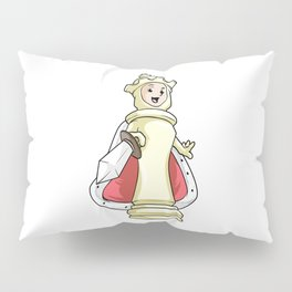 Queen Chess piece at Chess with Sword Pillow Sham