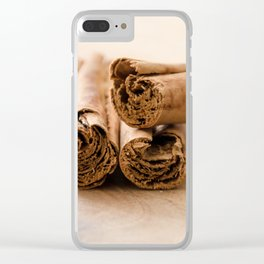 Cinnamon Stick Clear iPhone Case