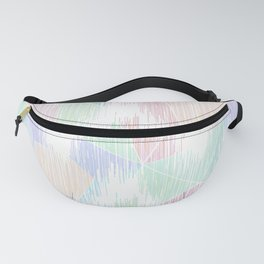 Delicate abstract pattern in pastel colors. Fanny Pack