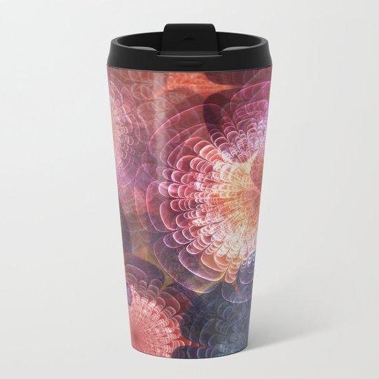 Fractal Corsage Metal Travel Mug