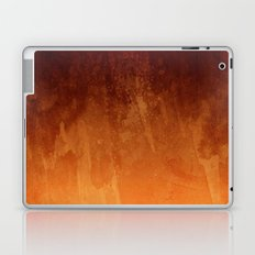 Orange Fire Watercolor Abstract Laptop & iPad Skin