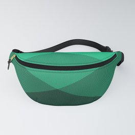 Light Green to Black Ombre Signal Fanny Pack