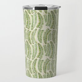 Palm leaves in tiger print Travel Mug