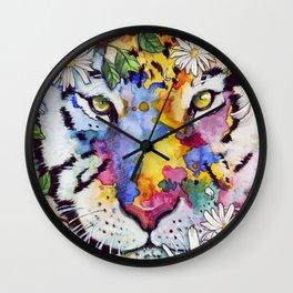 Flower Tiger Wall Clock