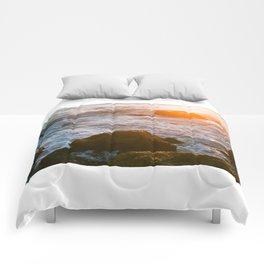 cape sunset Comforters