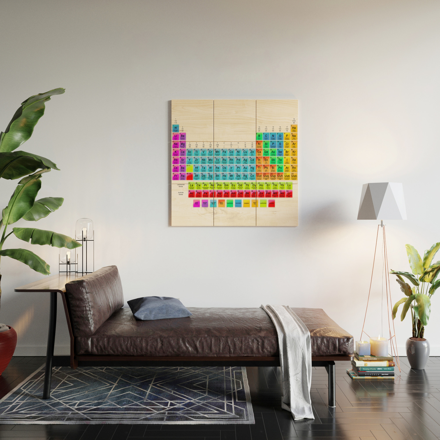 Periodic Table Mendeleev Wood Wall Art By Lovehope