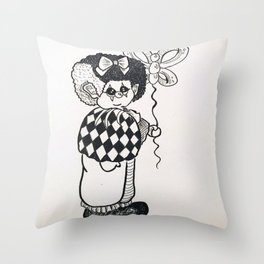 sad clown Throw Pillow