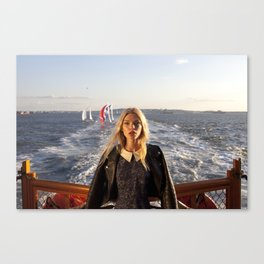 The Ferry, with Sailboats Canvas Print