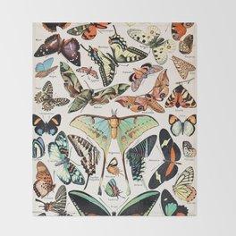 Adolphe Millot - Papillons pour tous - French vintage poster Throw Blanket