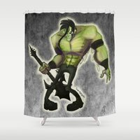 misfits Shower Curtains featuring Misfits by Roe Mesquita