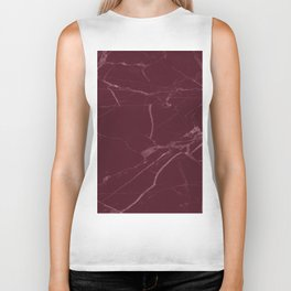 modern burgundy marble look Biker Tank