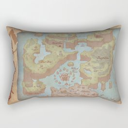 Super Mario World Map (Vintage Style) Rectangular Pillow