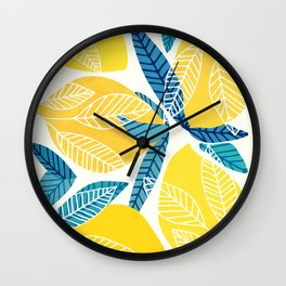 Lemon Tree / Abstract Fruit Art Wall Clock