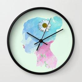 Watercolor Woman Wall Clock
