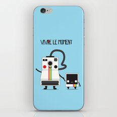 Vivre le moment iPhone Skin