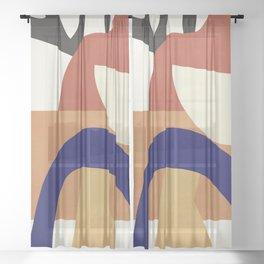 Abstract Art 38 Sheer Curtain