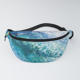 Tides  - Abstract fluid painting Fanny Pack