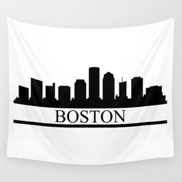 Boston skyline Wall Tapestry